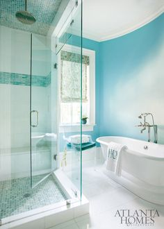 turquoise bathroom | Mallory Mathison Inc.