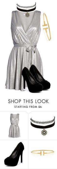 """""""Untitled #390"""" by pewjer ❤ liked on Polyvore featuring BB Dakota, Charlotte Russe, Qupid and Tiffany & Co."""