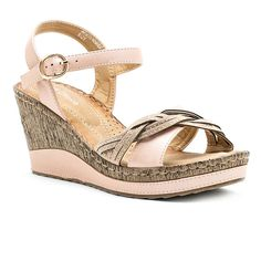 f870d088acd1 GC Shoes Moxie Womens Wedge Sandals Shoes Sandals