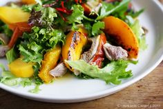 roast duck, char-grilled peach and orange salad... minus the duck!