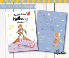 The Little Prince Invitation for The Little Prince birthday. Le Petit Prince Invitation Printable for DIY Le Petit Prince Party. DIGITAL. by Popobell on Etsy https://www.etsy.com/listing/271685086/the-little-prince-invitation-for-the