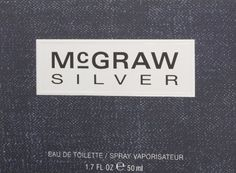 Silver Eau-De-Toilette Spray by McGraw, 1.7 Fluid Ounce  http://www.themenperfume.com/silver-eau-de-toilette-spray-by-mcgraw-1-7-fluid-ounce/