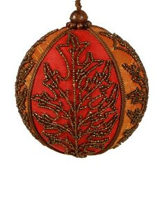 Silk Beaded Oak Leaf Ball Ornament, http://www.myhabit.com/redirect/ref=qd_sw_dp_pi_li?url=http%3A%2F%2Fwww.myhabit.com%2F%3F%23page%3Dd%26dept%3Dwomen%26sale%3DA3G6NI015GWK1Z%26asin%3DB00DL07MFC%26cAsin%3DB00DL07MFC