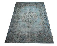 The Orient Bazaar - Powder Blue Rug with Floral Patterns , Beautiful Living Room Rug, Rug for Dining Room