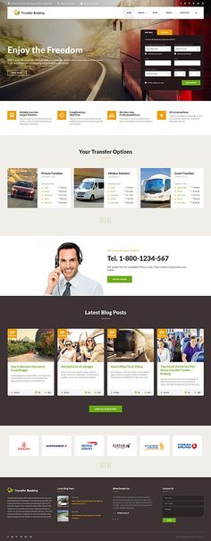 Template 62196 - Transfer Booking  Responsive Website Template