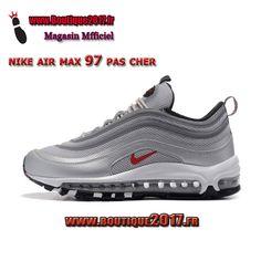 best service 10bc5 a591d Nike Air Max 97 Gris Rouge Blanc 884421-001 boutique2017
