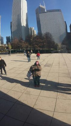 Taking a selfie at Cloudgate in Millennium Park, Chicago.