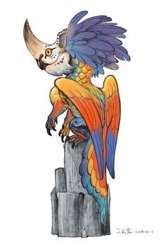 Mystical Creatures Drawings, Cute Fantasy Creatures, Mythical Creatures Art, Creature Drawings, Mythological Creatures, Animal Drawings, Creature Concept Art, Creature Design, Cartoon Kunst