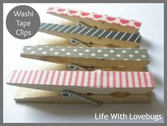Transform her clothespins with washi tape. | 17 Easy Emergency Mother's Day Crafts For Kids