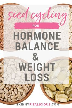 Seed Cycling for Hormone Balance & Weight Loss - Skinny Fitalicious® Weight Loss Drinks, Weight Loss Meal Plan, Diet Plans To Lose Weight, Weight Loss For Men, Weight Loss Snacks, Weight Loss Smoothies, Skinny, Seed Cycling, Egg And Grapefruit Diet