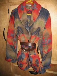 Territory Ahead Snowberry Creek Indian Blanket Jacket Coat XL | eBay