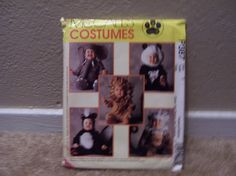McCalls Toddler Costumes P387 Animals Size 1 by doyourememberwhen, $3.00