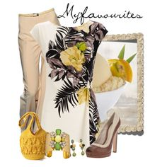 Creme Tropical by myfavourites on Polyvore featuring moda, Wallis, Alexander McQueen, Mar y Sol, Yochi and Fantasy Jewelry Box