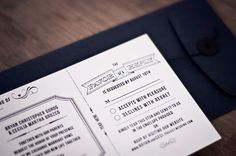 Invitation package designed by Arian Franz as featured on designworklife