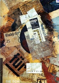 DADAISM - an art movement created after WWI that was born out of the negative reactions of the war; collages like above were a very popular form of expression (Kurt Schwitters, Merzgurnfleck, 1920) (The Twenties, Thirties, and WWII)