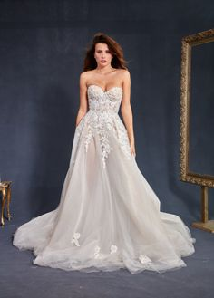 Strapless Galia Lahav wedding dress: http://www.stylemepretty.com/2016/10/16/prettiest-wedding-dresses-fall-2017-bridal-week/ Courtesy: Galia Lahav - http://www.galialahav.com/