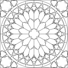 Notre Dame Rose Window Coloring Pages