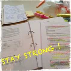 Stay Strong!!! study motivation
