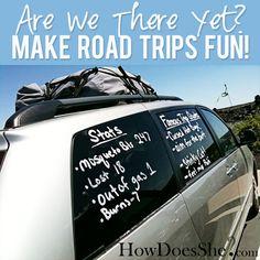 Are we there yet? ...make road trips FUN! howdoesshe.com #roadtrips
