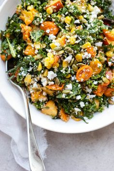 Summer Celebration Kale and Quinoa Salad with Roasted Shallot Vinaigrette ⎮ happy hearted kitchen