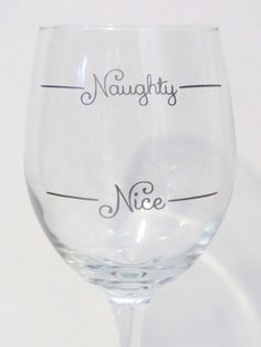 Custom Naughty or Nice Wine Glass Holiday Gift by KCLaneDesigns