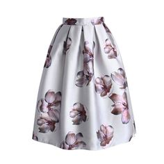 New Arrival Summer Skirts Womens Knee-Length Midi Skirt Pastel High Waist Saia Feminina Flower Skirt Graceful Saia Midi