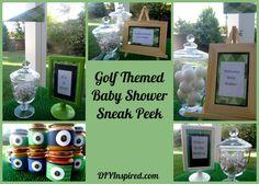 Golf themed co-ed baby shower sneak peek.