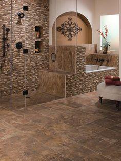 Clasical Bathroom With Euro Tile Style Bathroom Flooring Intricate Ceramic Tile Super Unique Design Ideas