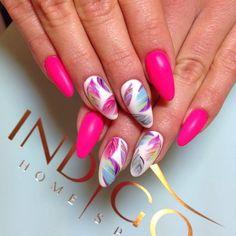 Indigo Gel Brush Dreams Come True + Matt  By Indigo Educator Magdalena Żuk, Wrocław Double Tap if you like #mani #nailart #nails #pink Find more Inspiration at www.indigo-nails.com