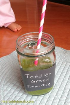 Love Green Smoothies? Try this Kid Friendly Green Smoothie Recipe For Your Toddler and Kids!