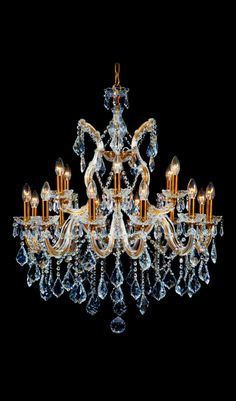 Italian Chandeliers Gold And Crystal