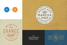 10 Logo/Badge Templates Vol.5 by GraphicBurger on Creative Market
