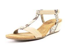 Alfani Voyage Natural Snake Wedge Sandals
