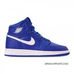 buy popular 9809d c61e1 Mens Nike Air Jordan 1 Retro High OG Basketball Shoes Hyper Royal Sail-Hyper