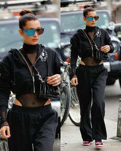 Bella Hadid, Summer Winter, Aphrodite, Night Life, Street Styles, Celebrity Style, Street Wear, Leather Jacket, Ootd