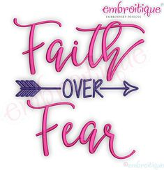 Faith over Fear with Arrow   Inspirational Instant Download