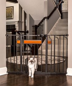 Home Design Extra-wide Wood & Steel Pet Gate