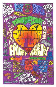 poster design ideas...1967 Summer of Love  by David Sutter