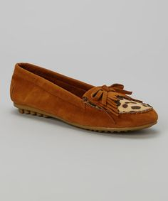 Love this Tan Leopard Moccasin by Shoes of Soul on #zulily! #zulilyfinds