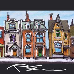 Urban Landscape Paintings Easy Ideas For 2019 Landscape Drawings, City Landscape, Landscape Wallpaper, Cool Landscapes, Urban Landscape, Landscape Paintings, Pen And Watercolor, Watercolor Landscape, Abstract Landscape