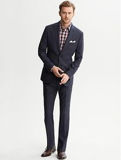 Modern Slim-Fit Navy Wool Suit // Banana Republic | Suits ...