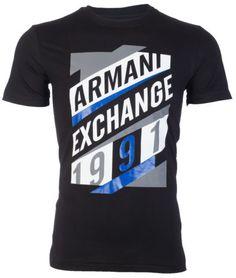 e27e4d2f77af5 Armani-EXCHANGE-AX-Hombre-Camiseta-Grafico-Jeans-Ajustado-