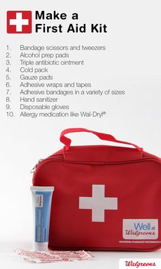 Make a first aid Kit. These are the basic supplies that you should include in it. Visit our website and learn how to create your own first aid kit for the everyday and the extreme: http://insidefirstaid.com/ #first #aid #medicine #health #medical #attention #supplies #health #items