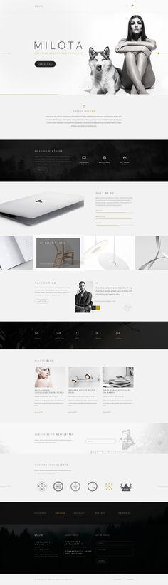 Milota — Modern Personal/Studio Portfolio and Blog PSD Template by torbara