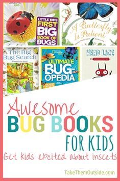 A list of fun insect books for kids, the classroom, and nature study | #kidsbooks #bugbooks #naturestudy #homeschooling