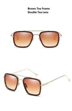 168c4a4b810 Avengers Infinity War Tony Stark Sunglasses Luxury Brand Iron Man Glasses  Rectangle Vintage Superhero Sun Glasses Clear for Men