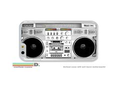 Retro Boombox Radio, Custom Phone Case for iPhone 4/4s, 5/5s, 6/6s, 6/6s+ and iPod Touch 5