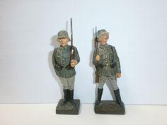 Konvolut 2 alte Lineol Massesoldaten Wachposten stillgestanden zu 7.5cm | eBay