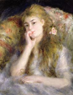 ♔ 'Young woman seated' ~ by Pierre Auguste Renoir