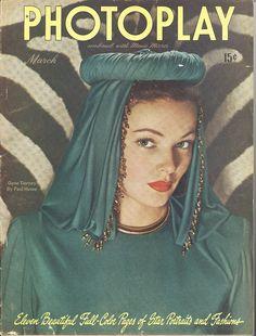 Gene Tierney-Photoplay magazine-Mar 1946